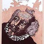 11.- El Testamento de Don Quijote (XI), Xilografía y puntaseca, mancha 31,5 x 23,5 cm., soporte 38 x 27,5 cm.
