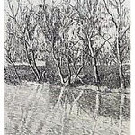 1.- La voz del Árbol, Prólogo (I), Aguafuerte, 18,5 x 12 cm., soporte 38 x 27 cm.