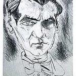 5.- Evocación de Federico García Lorca,  Aguafuerte y aguatinta, mancha 32 x 24,5 cm., soporte 48,5 x 38 cm.