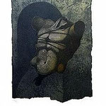 3.- Sonetos Amorosos (III),  Aguafuerte, 39 x 29 cm., soporte 48,5 x 38 cm.