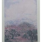 8.- Jaén, Puntaseca y Aguatinta, mancha 33,5 x 24,5 cm., soporte 49,5 x 37,8 cm.
