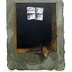 8.- Sonetos Amorosos (VIII), Aguafuerte, 39,5 x 30 cm., soporte 48,5 x 38 cm.