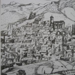 5.- Desde Mi Rincón (IV), Litografía, mancha 50 x 37,5 cm., soporte 50 x 37.5 cm.