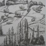 6.- Desde Mi Rincón (V), Litografía, mancha 50 x 37,5 cm., soporte 50 x 37.5 cm.