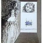 11.- La Isla del Hada (XI), Aguafuerte y aguatinta, mancha 38 x 27 cm., soporte 38 x 27 cm.