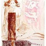 5.- La Isla del Hada (V), Aguafuerte y aguatinta, mancha 38 x 27 cm., soporte 38 x 27 cm.