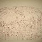 2.- Caminos (I), Litografía, mancha 50 x 37,5 cm., soporte 50 x 37,5 cm.