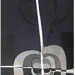 12.- La noche y la llama (XI), Aguafuerte y aguatinta, 48,5 x 38 cm., soporte 48,5 x 38 cm.