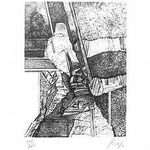 4.- Coplas a la Muerte de su Padre (IV), Puntaseca y Buril, mancha 32,5 x 24,5 cm., soporte 48,5 x 37,5 cm.
