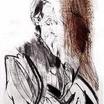 6.- Tiziano, Puntaseca y aguatinta, mancha 32 x 24,5 cm., soporte 50,5 x 38 cm.