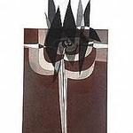 13.- La noche y la llama (XII), Aguafuerte y aguatinta, 48,5 x 38 cm., soporte 48,5 x 38 cm.
