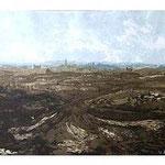 9.- Los Cigarrales,  Puntaseca y aguatinta, mancha 38 x 48,5 cm., soporte 49 x 38 cm.