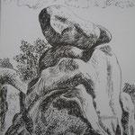 9.- Desde Mi Rincón (VIII), Litografía, mancha 50 x 37,5 cm., soporte 50 x 37.5 cm.