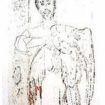 3.- Las Águilas (III), Aguafuerte, aguatinta y punta seca, mancha 32 x 24,5 cm., soporte 48,5 x 37,5 cm.