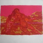 3.- Verano,  Litografía, mancha 33,5 x 47,5 cm., soporte 74 x 52  cm.