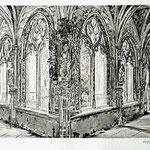 6.- Claustro de San Juan de los Reyes,  Puntaseca y aguatinta, mancha 32 x 24,5 cm., soporte 49 x 38 cm.