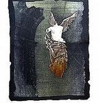 12.- Sonetos Amorosos (XII), Aguafuerte, 27 x 14 cm., soporte 48,5 x 38 cm.