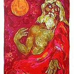 11.- Poemas Metafísicos,  Litografía, mancha 45,5 x 36 cm., soporte 48,5 x 38 cm.