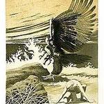 2.- Soledad Primera (I), Aguafuerte y aguatinta, 32,5 x 24,5 cm., soporte 48,5 x 37,5 cm.
