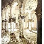 3.- Santa Maria la Blanca,  Puntaseca y aguatinta, mancha 32 x 24,5 cm., soporte 49 x 38 cm.