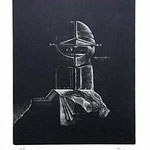 1.- Coplas a la Muerte de su Padre (I), Manera Negra, mancha 29,5 x 23,5 cm., soporte 48,5 x 37,5 cm.