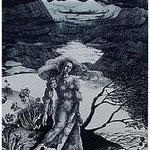4.- Sonetos (IV), Aguafuerte, 32 x 24,5 cm., soporte 49,5 x 38 cm.