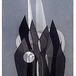 10.- La noche y la llama (IX), Aguafuerte y aguatinta, 48,5 x 38 cm., soporte 48,5 x 38 cm.