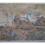 3.- Fionia, Litografía, mancha 38 x 49 cm., soporte 38 x 49 cm.
