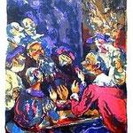 5.- A Don Francisco de Quevedo,  Litografía, mancha 45 x 35,5 cm., soporte 48,5 x 38 cm..