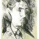7.- Manolito, Manolo, Manuel Altolaguirre,  Aguafuerte y aguatinta, mancha 32 x 24,5 cm., soporte 48,5 x 38 cm.