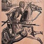 8.- El Testamento de Don Quijote (VIII), Xilografía y puntaseca, mancha 31,5 x 23,5 cm., soporte 38 x 27,5 cm.