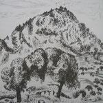 3.- Desde Mi Rincón (II), Litografía, mancha 50 x 37,5 cm., soporte 50 x 37.5 cm.