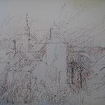 8.- Caminos (VII), Litografía, mancha 50 x 37,5 cm., soporte 50 x 37,5 cm.