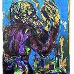 3.- Poemas Metafísicos,  Litografía, mancha 45,5 x 36 cm., soporte 48,5 x 38 cm.