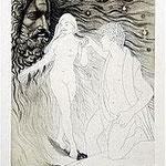 12.- Soledad Primera (XI), Aguafuerte y aguatinta, 32,5 x 24,5 cm., soporte 48,5 x 37,5 cm.