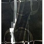 1.- La noche y la llama prefacio, Aguafuerte y aguatinta, 48,5 x 38 cm.