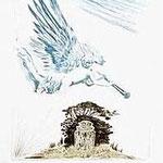2.- El Testamento de Don Quijote (II), Xilografía y puntaseca, mancha 31,5 x 23,5 cm., soporte 38 x 27,5 cm.