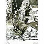 9.- Coplas a la Muerte de su Padre (IX), Puntaseca y Buril, mancha 32,5 x 24,5 cm., soporte 48,5 x 37,5 cm.