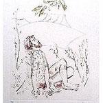 2.- Las Águilas (II), Aguafuerte, aguatinta y punta seca, mancha 32 x 24,5 cm., soporte 48,5 x 37,5 cm.