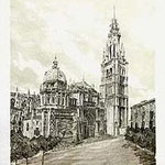 5.- La Catedral,  Puntaseca y aguatinta, mancha 32 x 24,5 cm., soporte 49 x 38 cm.