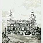 8.- El Ayuntamiento,  Puntaseca y aguatinta, mancha 32 x 24,5 cm., soporte 49 x 38 cm.