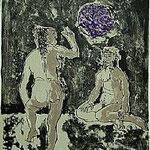 6.- Fabulas del Genil (VI), Litografía, mancha 48 x 37 cm., soporte 50 x 38 cm.