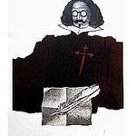 1.- Sonetos Amorosos (I), Aguafuerte, 56,5 x 31 cm., soporte 48,5 x 38 cm.