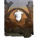 6.- Sonetos Amorosos (VI), Aguafuerte, 39 x 29 cm., soporte 48,5 x 38 cm.