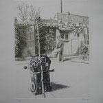 10.- Dolores la Escandalosa (IX), Aguafuerte, mancha 32,5 x 24,5 cm., soporte 50 x 38 cm.