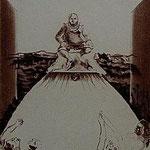 9.- Sonetos (IX), Aguafuerte, 19 x 16,5 cm., soporte 49,5 x 38 cm.
