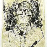 2.- Jorge Guillén, En la Ciudad,  Aguafuerte y aguatinta, mancha 32 x 24,5 cm., soporte 48,5 x 38 cm.