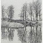 6.- La voz del Árbol (III), Aguafuerte, 18,5 x 12 cm., soporte 38 x 27 cm.