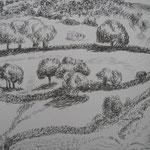 2.- Desde Mi Rincón (I), Litografía, mancha 50 x 37,5 cm., soporte 50 x 37.5 cm.