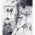 1.- Surrealismo (I), Aguafuerte, 19,5 x 14,5 cm., soporte 37,5 x 27,5 cm.